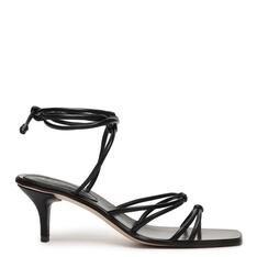 Sandália Schutz Mid Heel Strings Black