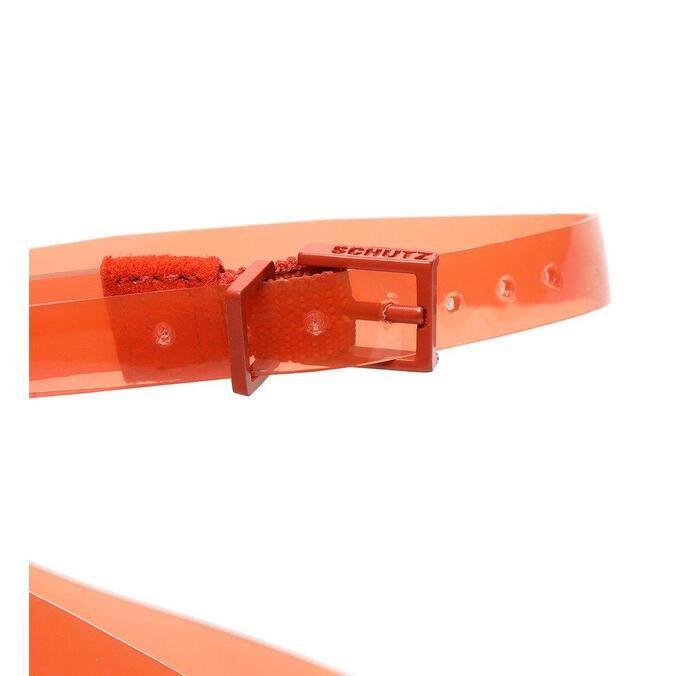 Scarpin Schutz Vinil Slingback Orange