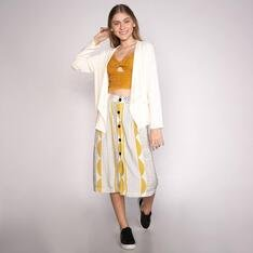 CARDIGAN Spezzato Teen KELIA-OFF-WHITE
