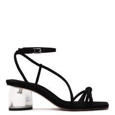 Sandália Schutz Block Heel Acrylic Black