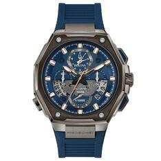 Relógio Bulova Masculino Borracha Azul - 98B357 by Vivara
