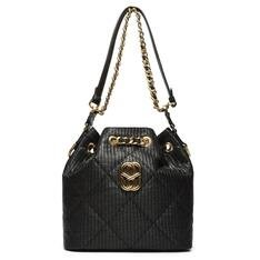 Bucket Schutz Bag Precious Ráfia Black