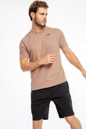 Camiseta Slim Inifnity - Bege - LIVE!