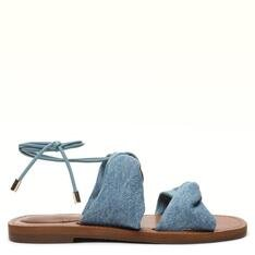 Rasteira Alme Azul Hortênsia/Jeans Stella