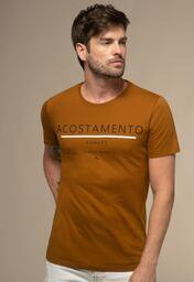 Camiseta Acostamento Casual Lettering