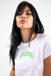 Baby look Baw athletic logo white