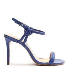 Sandália Schutz de Salto Couro Azul