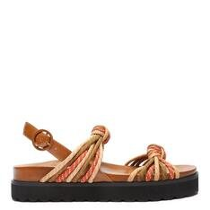 Sporty Schutz Sandal Multi Nós Colorido
