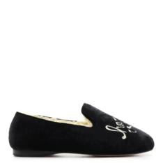 Homewear Schutz Loafer Lara Velvet Black