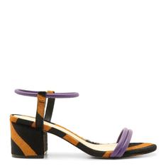 Sandália Schutz Block Heel Zebra Purple