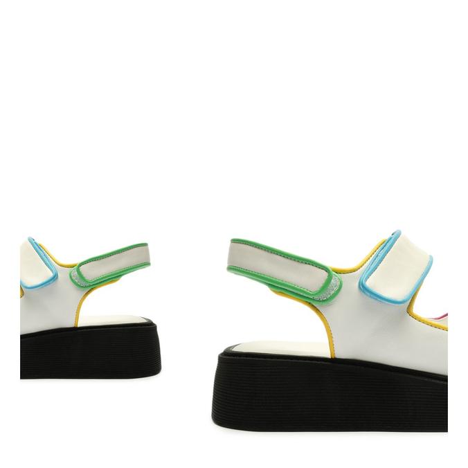 Sandália Papete Sporty Flatform Branca
