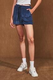 Shorts Easy Baw Cotelê Navy