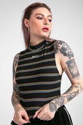 Cropped Baw  Stripes Black