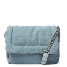 Bolsa Arezzo Tiracolo Azul Tecido Jeans Vicky Pequena