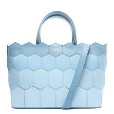 Bolsa Arezzo Shopping Azul Couro Anna Grande