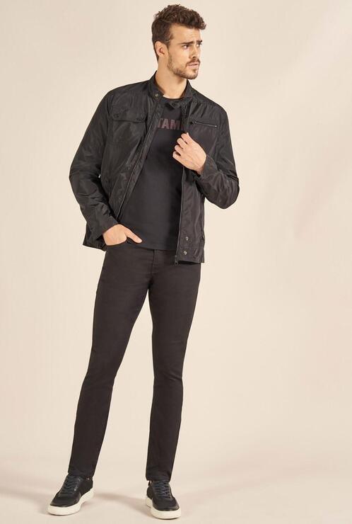Calça Jeans Acostamento Skinny Preto