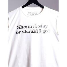 Camiseta Should I Stay Branco Spirito Santo