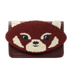 Bolsa Isla Bordada Panda Vermelho