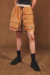 Shorts Vintage Baw Cotelê Caramel