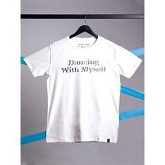 Camiseta Dancing With Myself Branco Spirito Santo