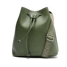 Bolsa Anacapri Bucket Verde Militar Alça Faixa