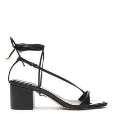 Sandália Schutz Block Heel Lace-Up Changeable Black