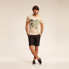 Camiseta ACOSTAMENTO manga estampada