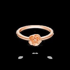 Anel Life Flor Rosa Com Banho Ouro Rosé by Vivara