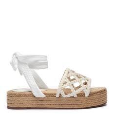 Sandália Schutz Flatform Geometric Natural White