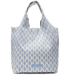 Bolsa Arezzo Shopping Azul Multimaterial Grande ZZ Bio
