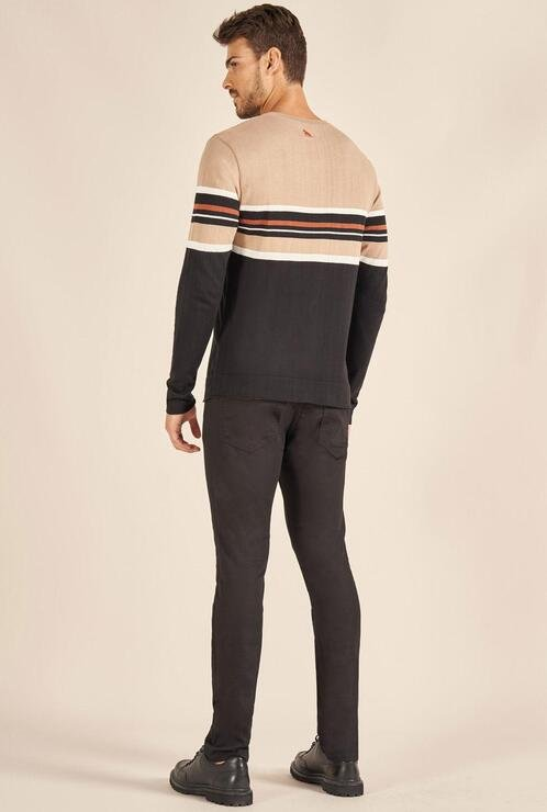 Suéter Tricot Acostamento Listras