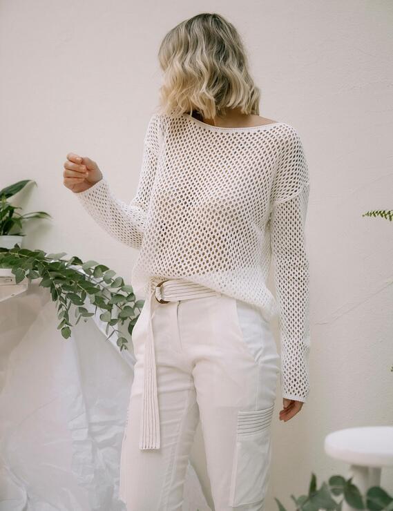 Blusa Tricot Lina Off White Lofty Style