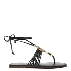 Sandália Schutz Strings Glam Lace-Up Black