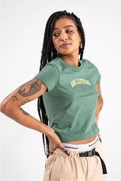 Baby look Baw athletic logo green