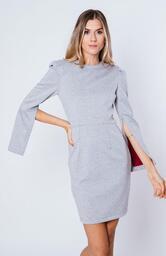 Vestido Le Molleton Victoria Cinza