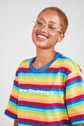 Camiseta Baw ta Striped Rainbow