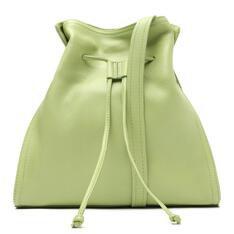 Bolsa Arezzo Bucket Verde Couro Yumi Grande
