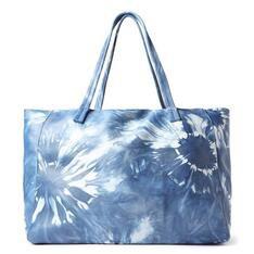Shopping Arezzo Azul Couro Tie-Dye Fio Grande