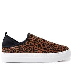 Slip Anacapri On Animal Print Stretch