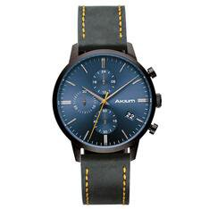 Relógio Akium Masculino Couro Cinza - 03K09ML01B by Vivara
