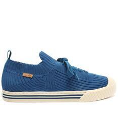 Tênis Anacapri Azul Knit Biqueira