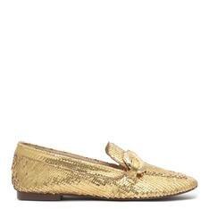 Loafer Schutz Deluxe Gold