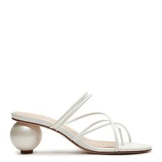 Sandália Schutz Mule Geometric Heel White