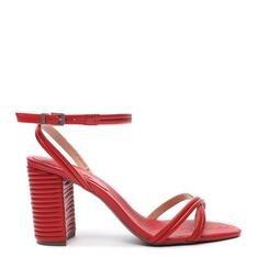 Sandália Schutz Texture Metallic Red