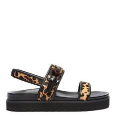 Sporty Schutz Sandal Flatform Estampa Onça
