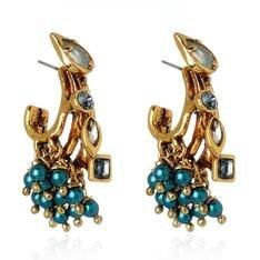 Brinco Prisma Claudia Arbex Ouro Vintage