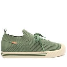 Tênis Anacapri Verde Jade Knit Biqueira