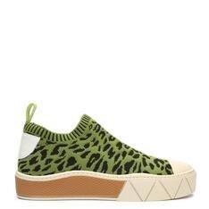 Tênis Schutz Urban Knit Animal Print Green