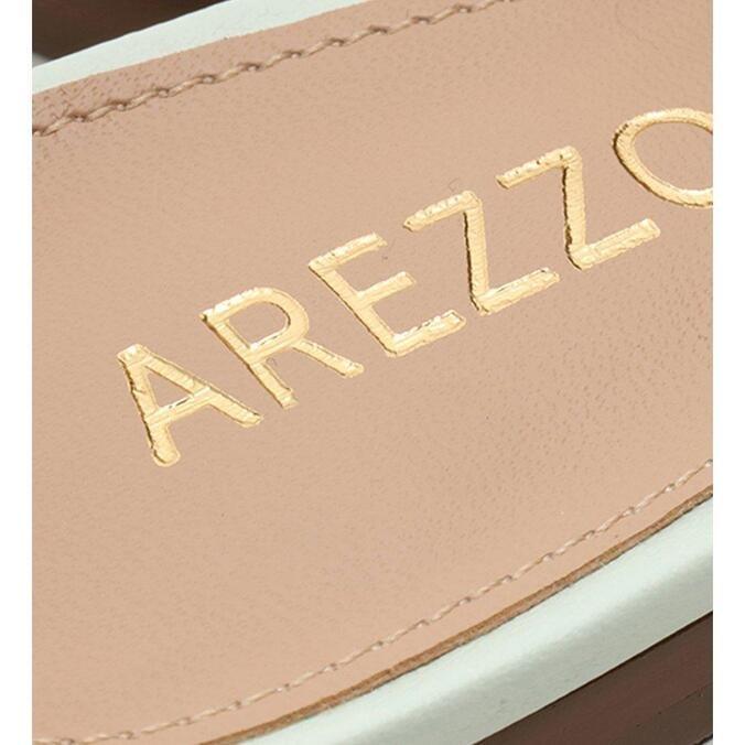 Mule Arezzo Verde Soft Couro Comfy