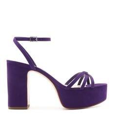 Sandália Schutz Meia Pata Nobuck Purple